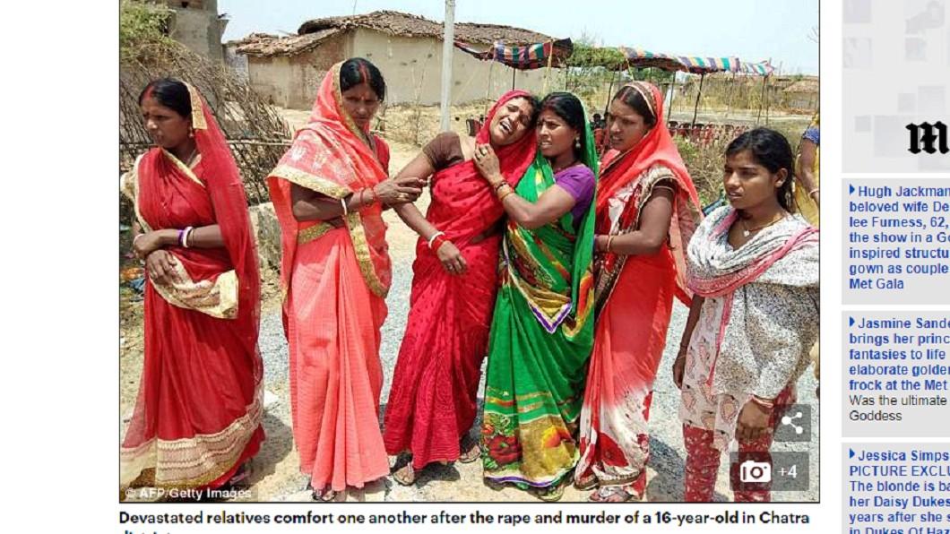 印度性侵事件頻傳,使許多家庭破碎。圖/翻攝自 每日郵報