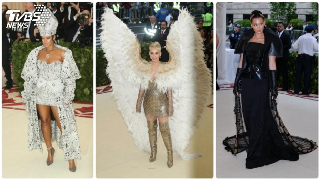 圖/達志影像TPG 天使、惡魔走紅毯 時尚奧斯卡穿出宗教味