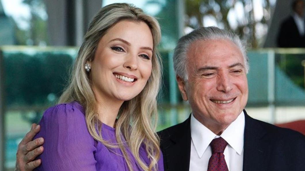 巴西總統泰梅爾與妻子瑪塞拉。圖/翻攝自marcelatemer的IG