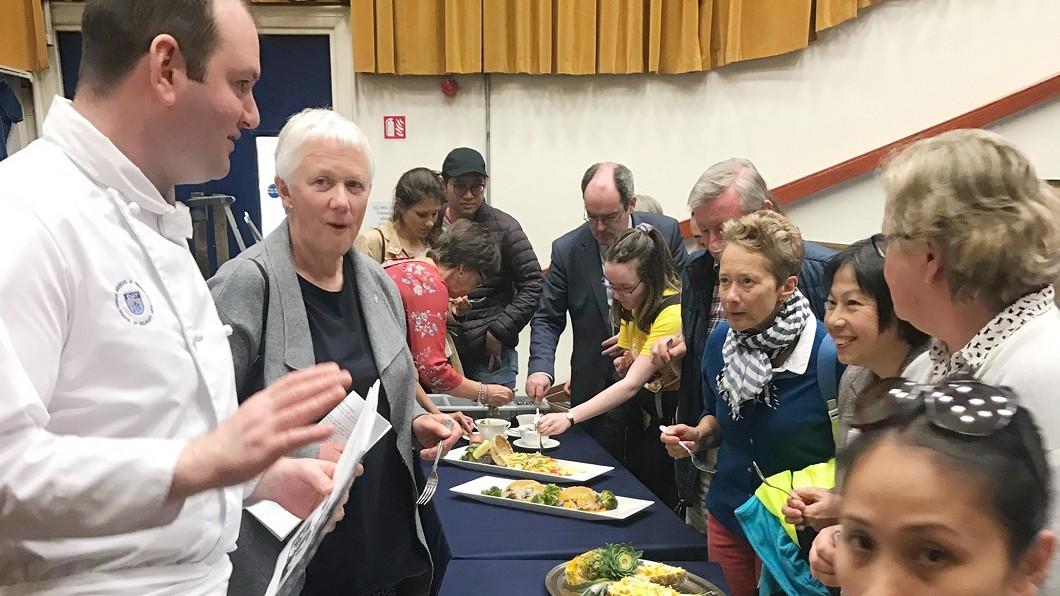 圖/中央社 美食外交 駐愛爾蘭代表處辦台灣美食講座