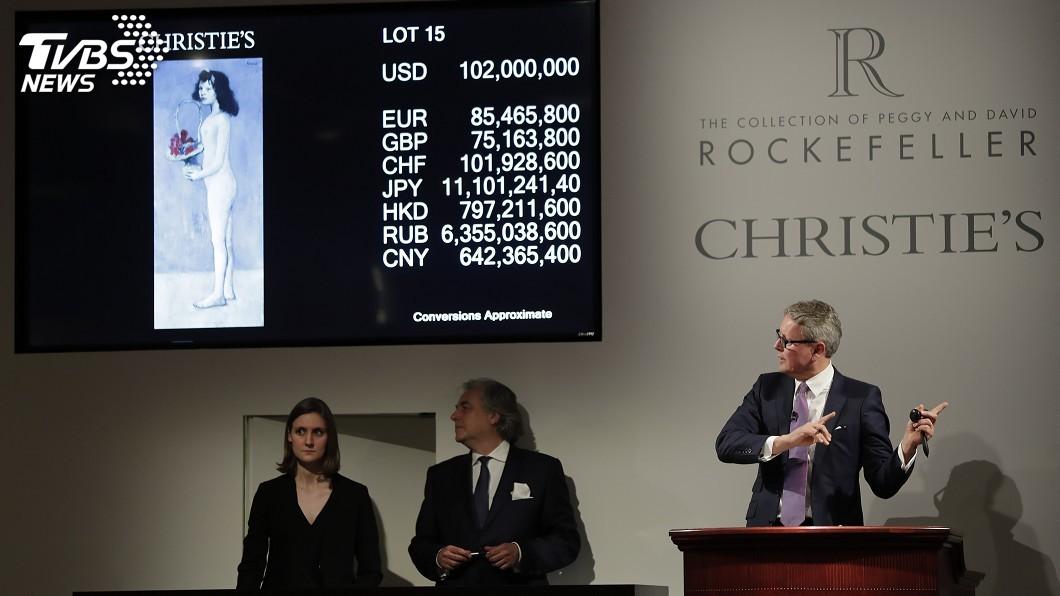 圖/達志影像美聯社 創紀錄!洛克斐勒夫婦珍藏 拍出249億元天價