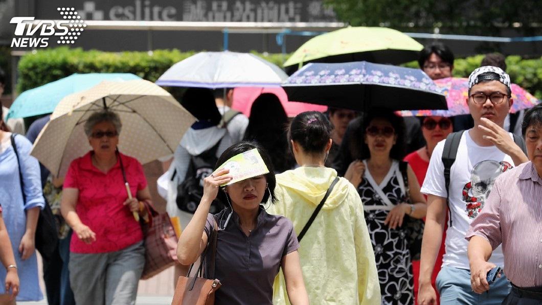 圖/中央社 午後留意雷陣雨 大台北桃園高溫可達36度