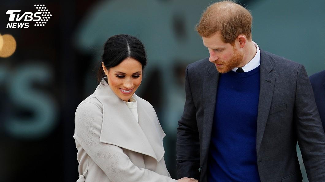 圖/達志影像路透社 家醜拋腦後 梅根微笑參與婚禮最後彩排