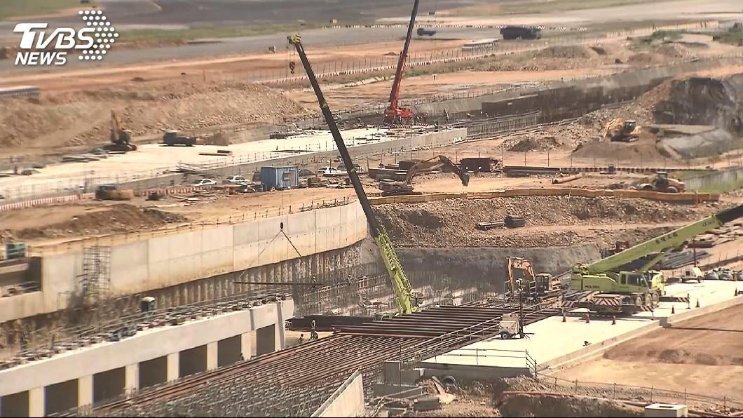 圖/TVBS 桃機三航廈主體3度流標 2023完工面臨考驗