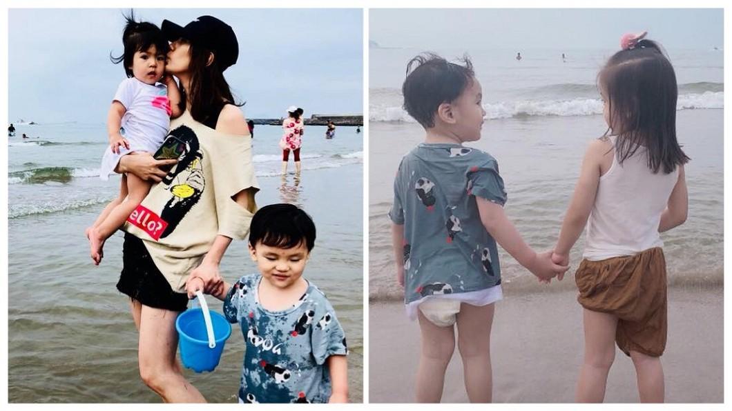 圖/翻攝自賈靜雯臉書 咘咘牽手「新歡」?小男友被起底居然是他