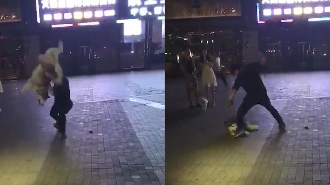 圖/翻攝自 臉書 突發事故報料區 哈士奇遭「空拋重摔」淒厲慘叫 虐狗男被圍堵痛毆