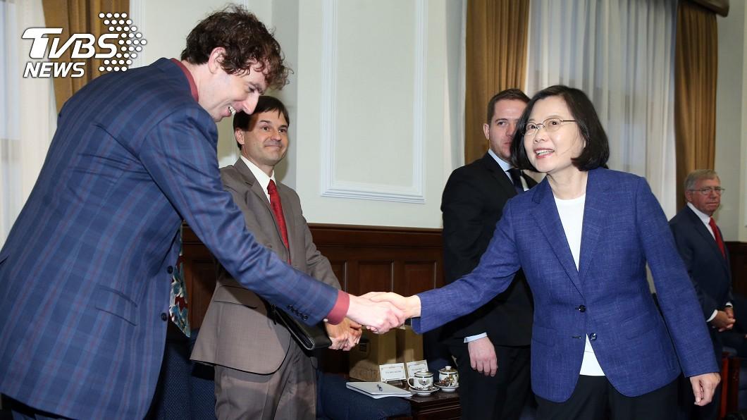 圖/中央社 蔡總統:盼美國將台灣列入鋼鋁關稅豁免名單