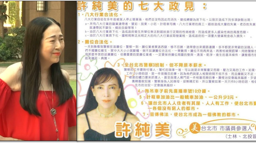 圖/翻攝臉書 曝12年前政見 許純美選台北市長網推爆:凍蒜啦!
