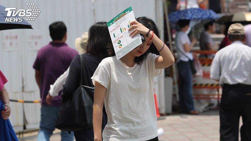 圖/中央社 台北11:17飆破38度 破27年5月高溫紀錄