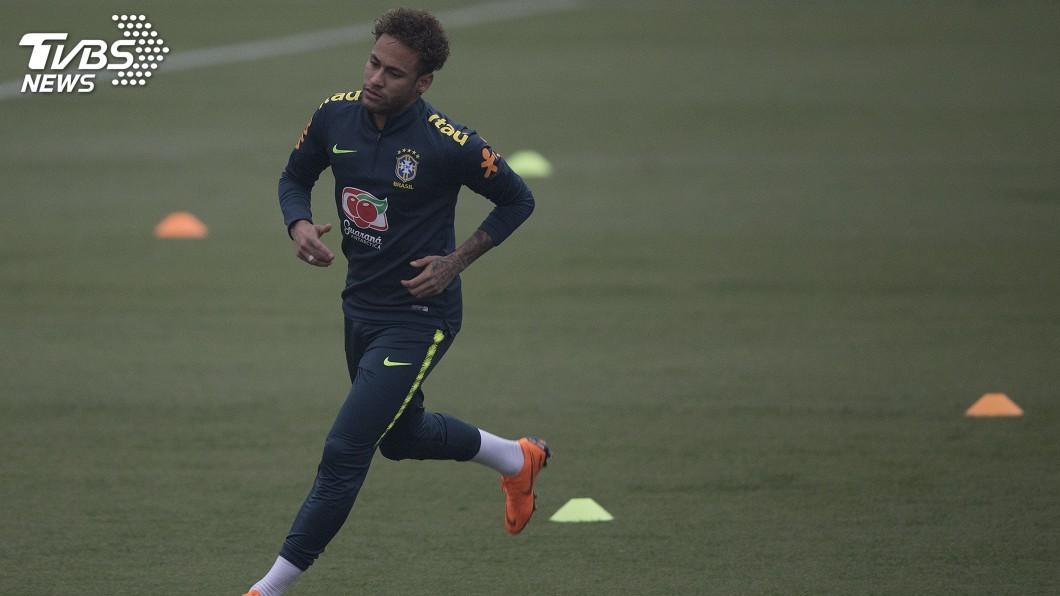 圖/達志影像美聯社 內馬爾腳傷漸癒 巴西教練:情況優於預期