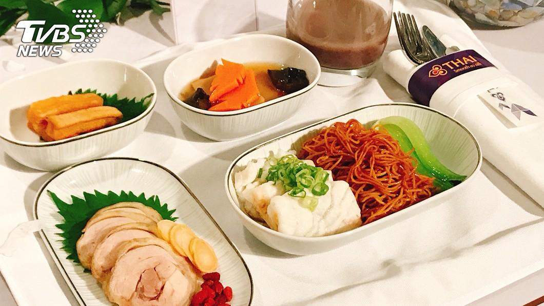 圖/中央社 台北米其林料理 泰國航空機上吃得到