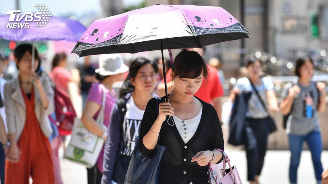 圖/中央社 天氣晴朗炎熱 8縣市高溫恐達攝氏36度以上