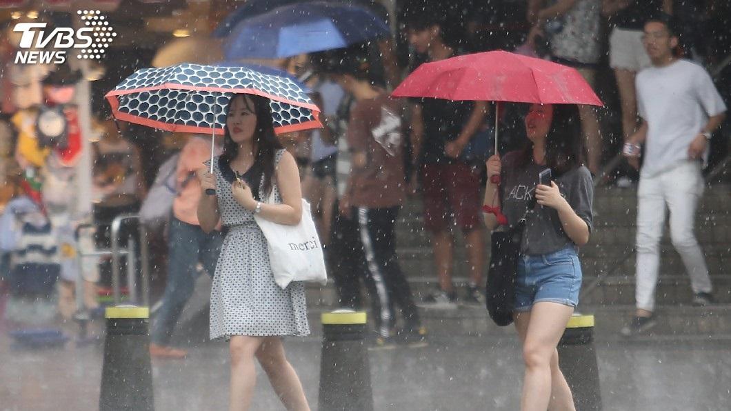 圖/中央社 終於要降溫了!鋒面今晚到 明起雨連下3天