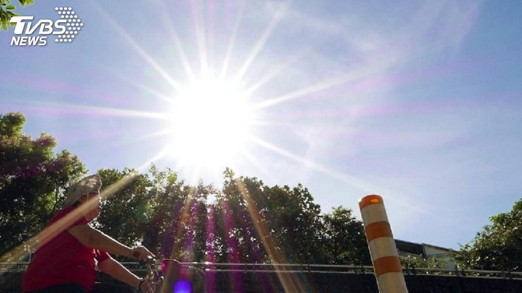 圖/TVBS 9縣市高溫亮黃燈!今明2天晴朗炎熱 恐有颱風生成