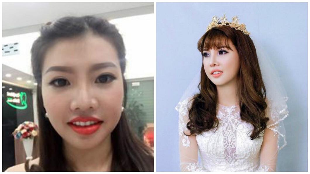 越南女整形之後後來嫁給富二代,不料對方還是劈腿。(圖/翻攝自臉書)