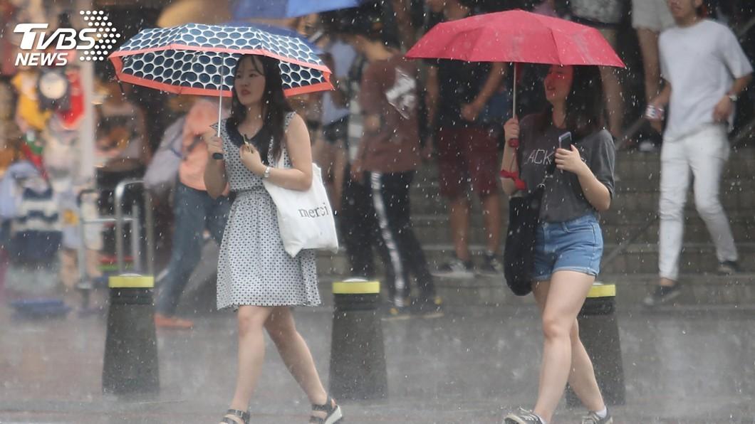 圖/中央社 鋒面今報到! 北台灣有雨氣溫轉涼
