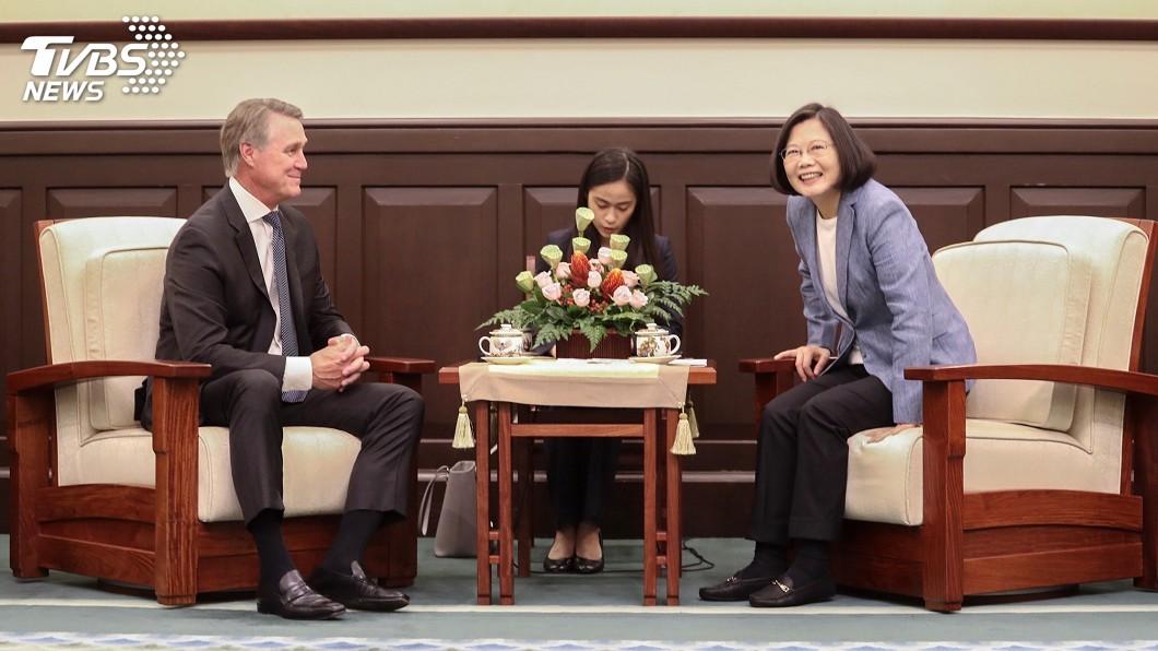 圖/中央社 見美參議員 總統:愈來愈多好友為台灣打氣