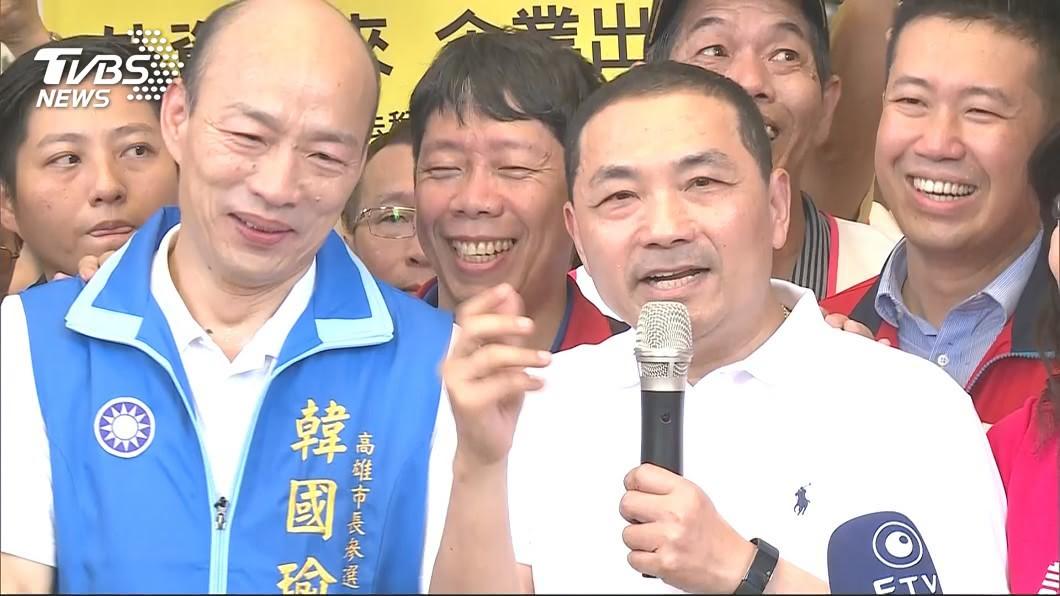 侯友宜去年6月曾造訪高雄,幫韓國瑜站台。資料照/TVBS