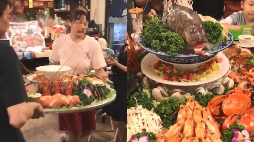 圖/翻攝自爆笑公社 18道菜組「痛風桌」要價1.2萬 網友驚:價錢超可以