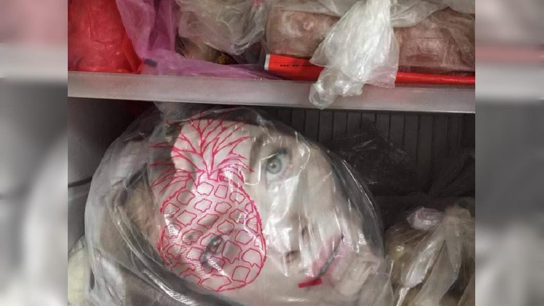 圖/翻攝爆廢公社 打開冰箱驚見「人頭」 網友判斷:恐死不瞑目