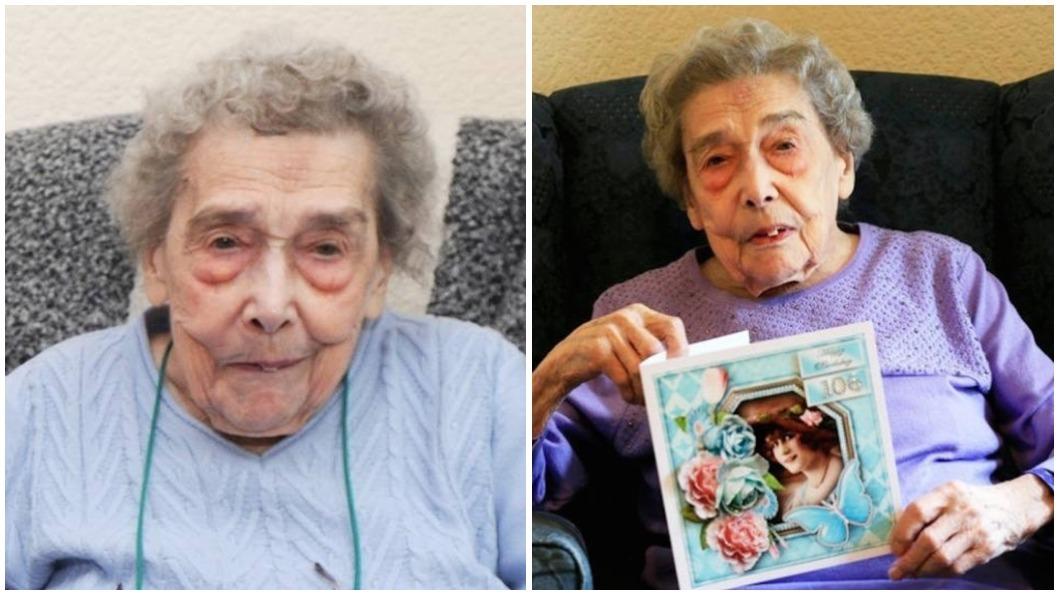 圖/推特 孤獨萬歲! 106歲人瑞的長壽秘訣:保持單身