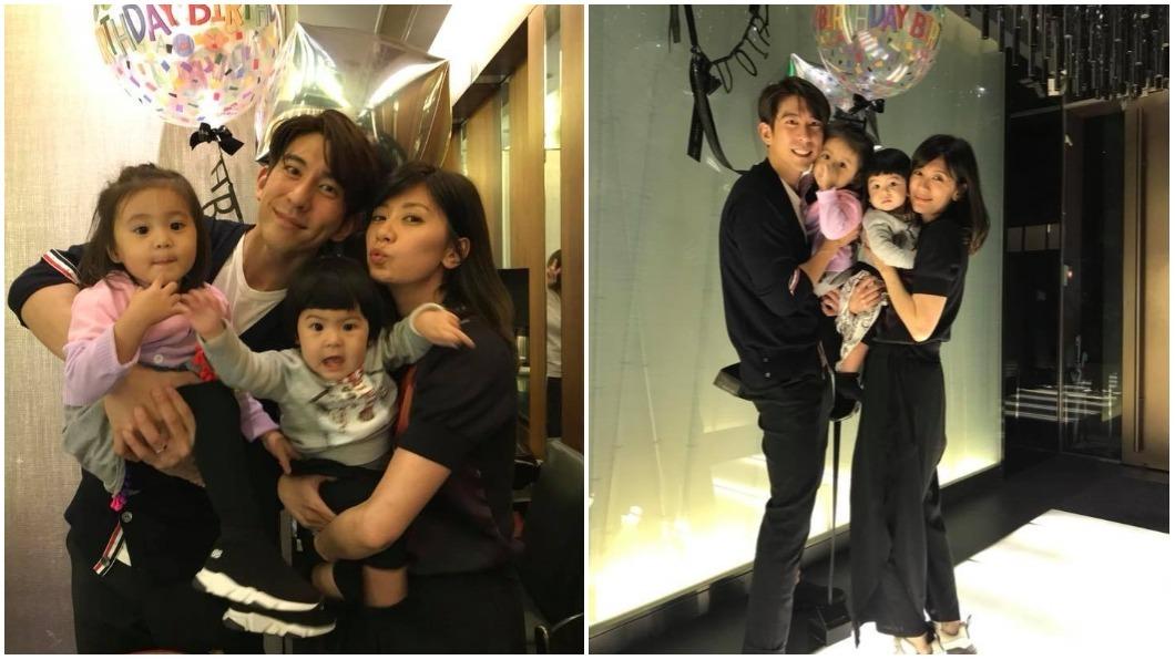 賈靜雯與修杰楷結婚生下一對女兒咘咘、BO妞,一家人相當幸福。 圖/賈靜雯臉書