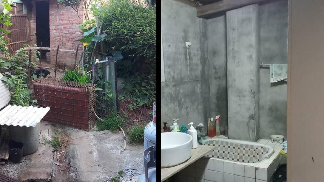圖/翻攝臉書 嫁到鄉下!浴室在雞舍狗窩旁 都市女怨:洗完澡像沒洗過