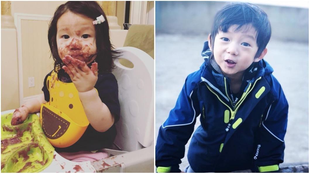 隋棠常在臉書曬女兒Lucy(左)和兒子Max(右)的照片,模樣相當可愛! 圖/翻攝自隋棠臉書