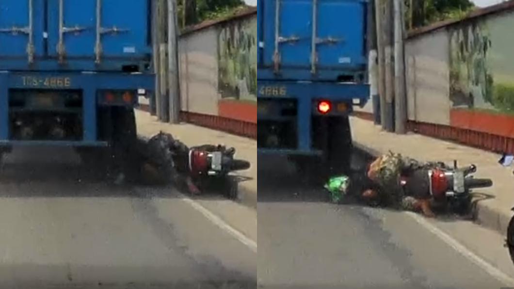 圖/翻攝自YouTube 男遭大貨車輾頭沒死 這頂強大「綠帽」讓網友驚呆