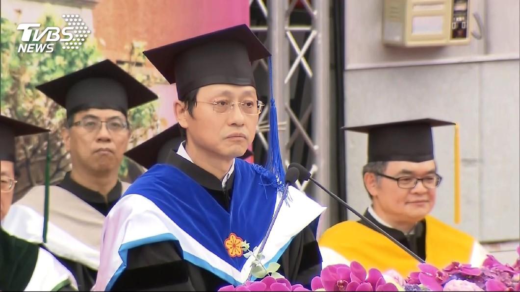 圖/TVBS 管中閔8日上任 台大代理校長:盼爭議告段落