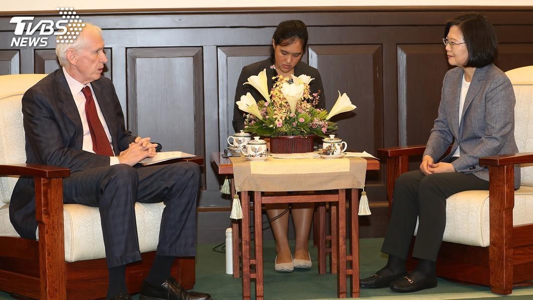 圖/中央社 中國外交打壓 總統:台灣人民感受美國挺你