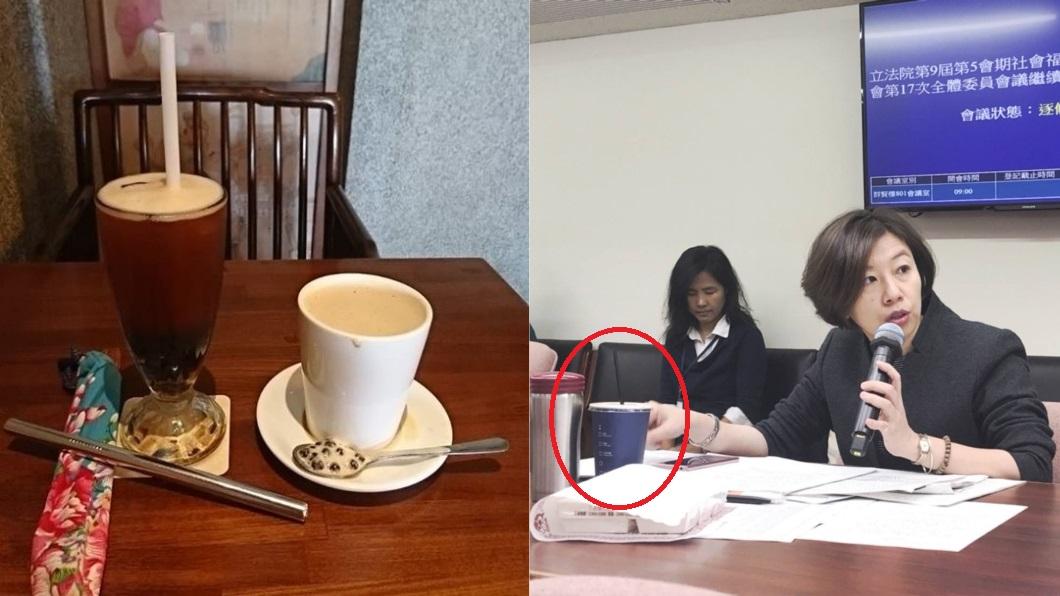 圖/林靜儀 醫師.立法委員臉書 桌上那杯是?稱10年用湯匙被打臉 林靜儀反擊了