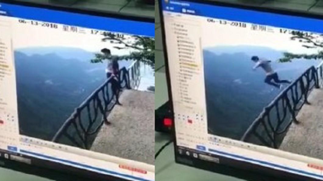 圖/翻攝自 微博 疑高考失利…18歲考生張家界跳崖亡 30秒畫面曝光