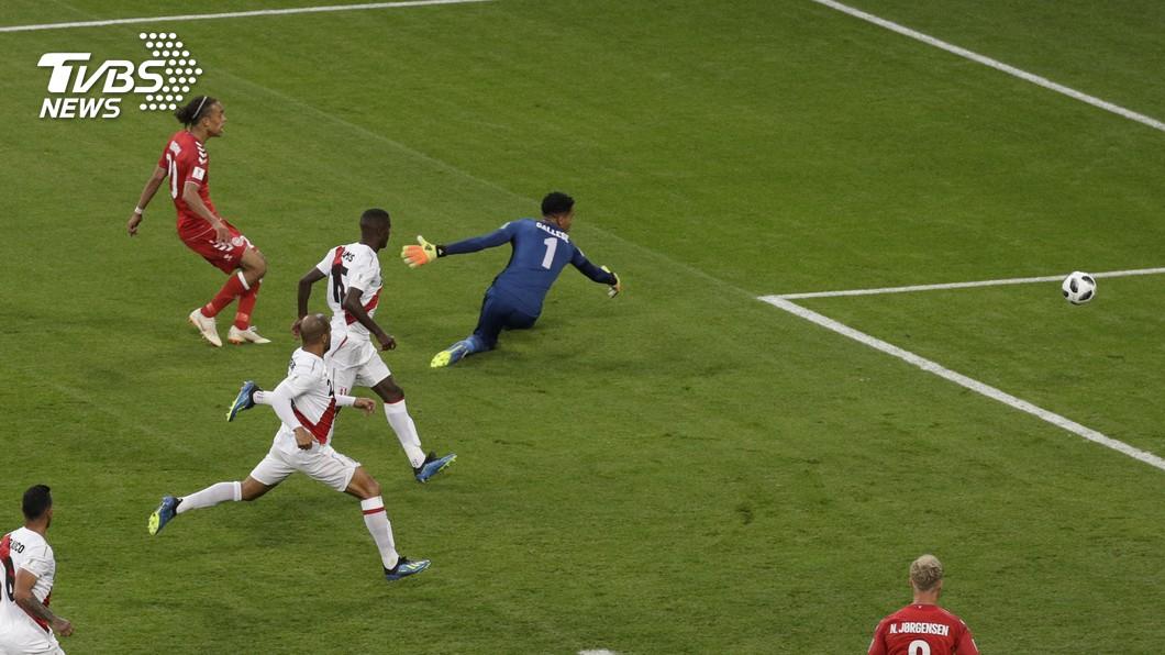 圖/達志影像美聯社(世足賽) 世足C組兩強對話 丹麥1比0勝祕魯