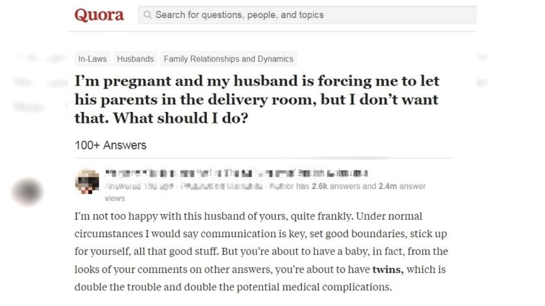 女子在網路上用英文詢問網友。圖/翻攝自Quora論壇