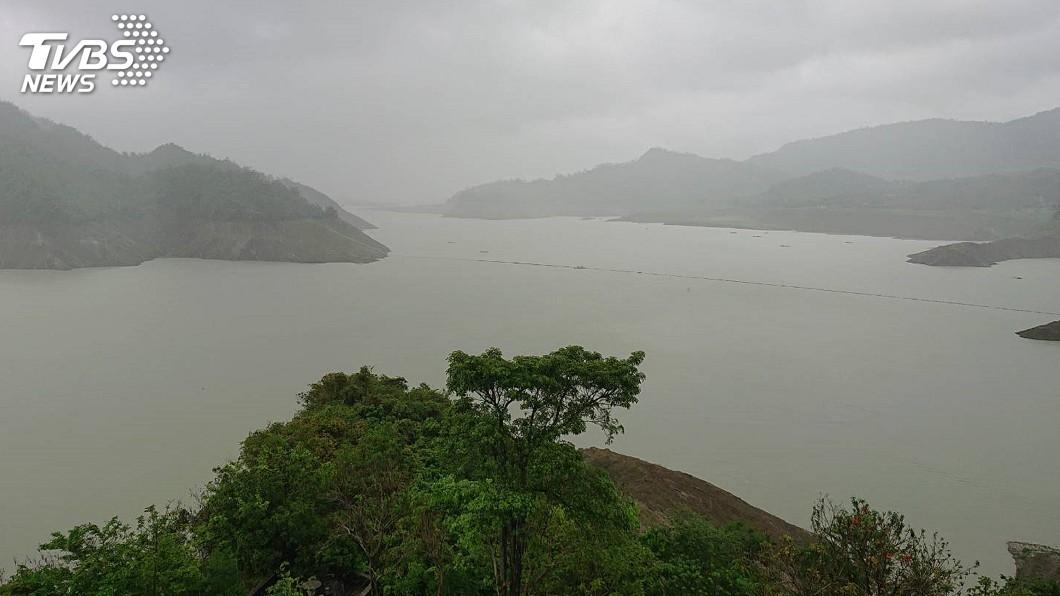 圖/中央社 台南水庫進帳7000萬噸 足供2個月用水