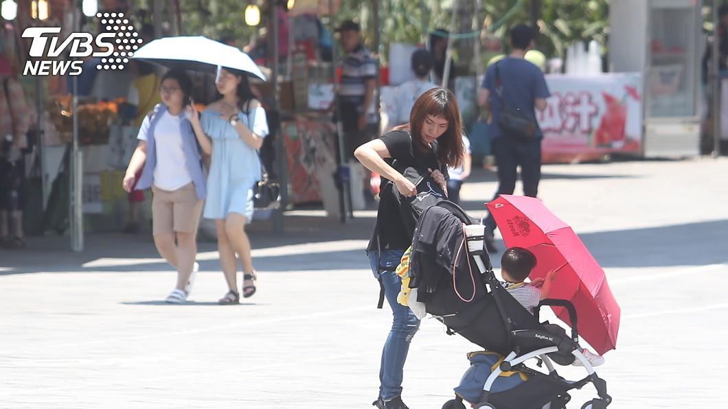 圖/中央社 夏至到了!北部飆34度 明起「非常炎熱」熱浪回歸