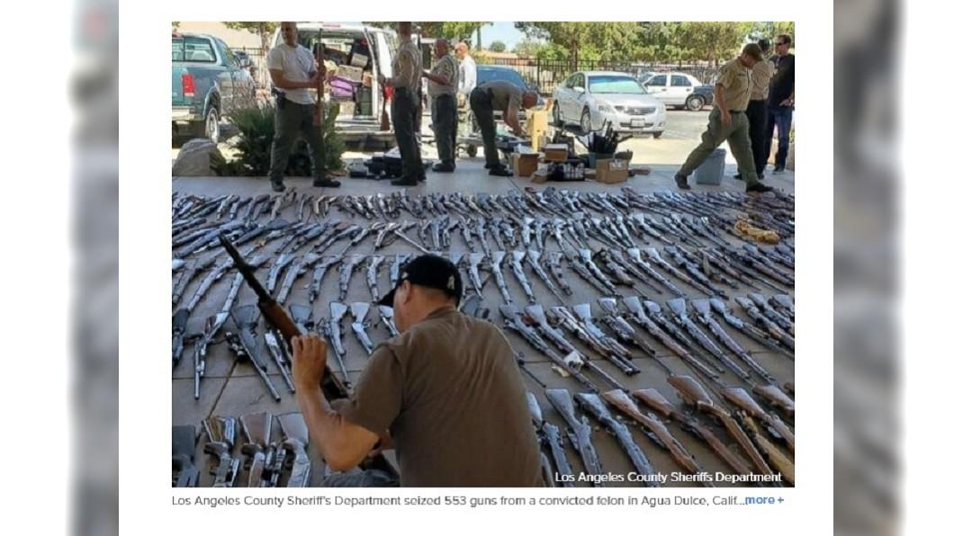 圖/翻攝自ABC News 宛如軍火庫! 加州男子住家驚見5百多把槍械