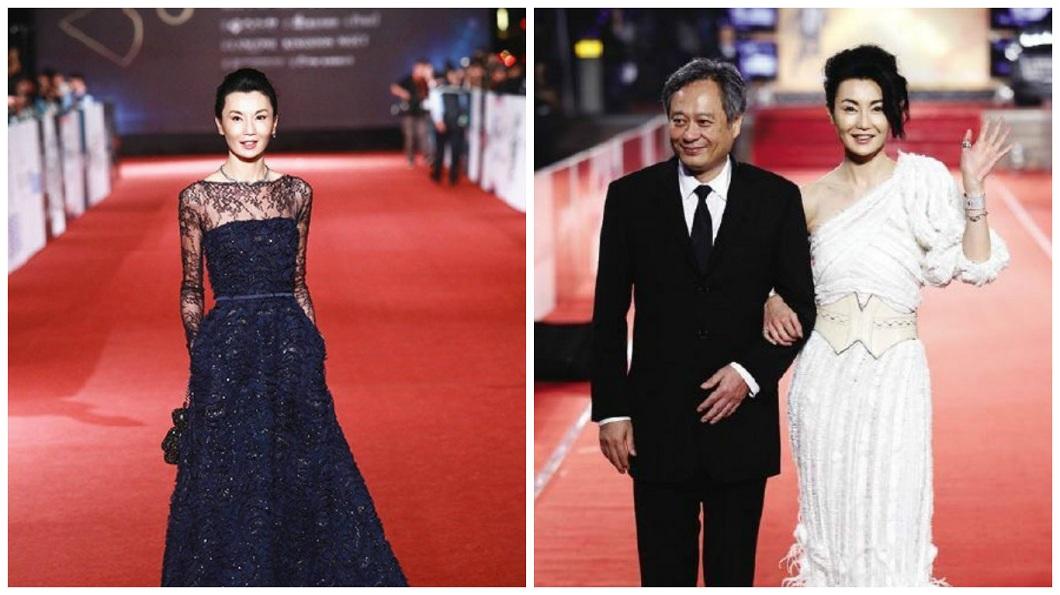 張曼玉一共奪下5座香港金像獎、4座金馬獎影后,影壇地位非凡。(圖/翻攝自微博)