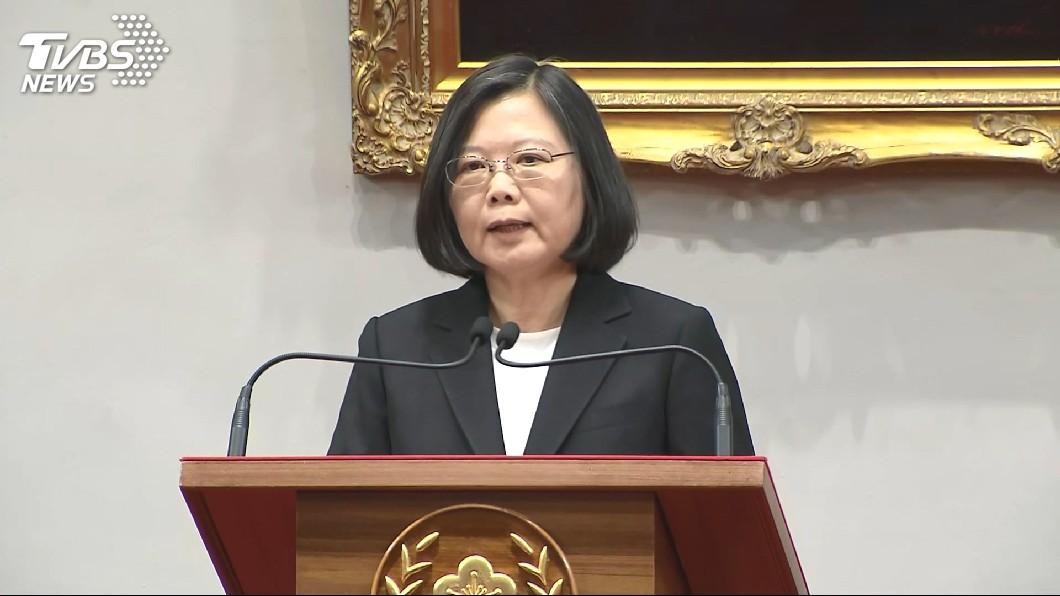 圖/TVBS 蔡總統:台灣民主只會向前 絕對不會後退