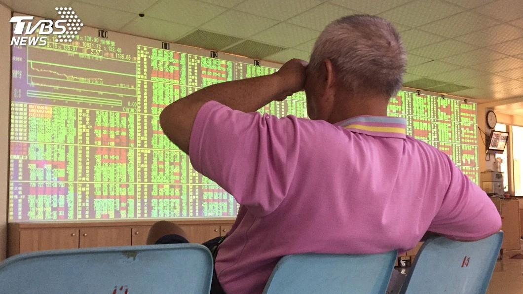 圖/中央社 台股大跌逾200點 注意外資期貨是否翻空