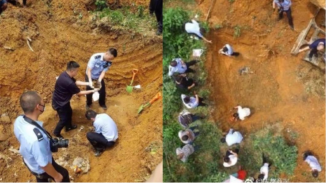 圖/翻攝自《微博》 男拿刀辱罵老母 兄弟聯手殺了他...白骨藏地窖14年