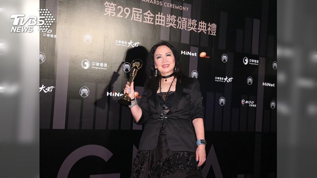 圖/中央社 蘇芮縱橫歌壇半世紀 獲金曲特別貢獻獎