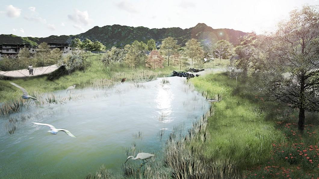圖/台北市工務局提供 永春陂濕地公園二期動土 提供多樣生態