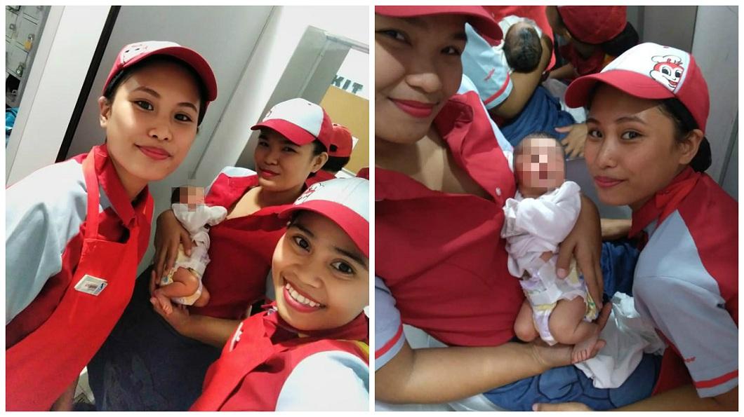 一名小男嬰被棄置,速食店女員工母愛大噴發,輪番幫忙照顧。(圖/翻攝自臉書) 男嬰被棄…速食店女員工「母愛噴發」 幫餵母乳想領養