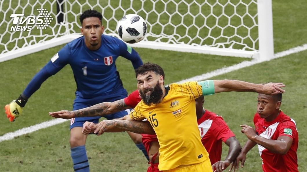 圖/達志影像美聯社(世足賽) 秘魯掌控比賽節奏 2比0打敗澳洲