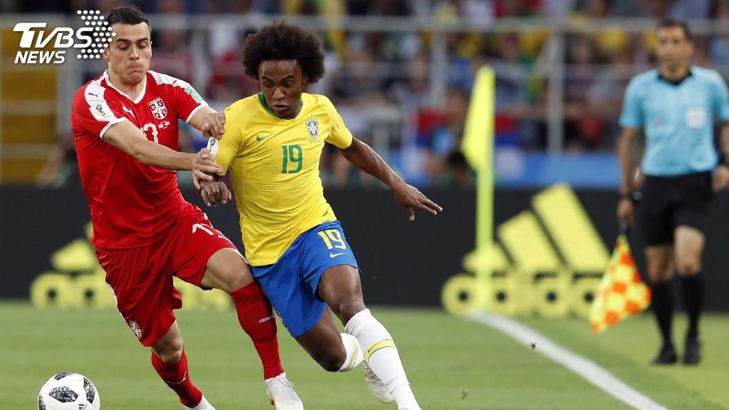 圖/達志影像美聯社(世足賽) 巴西2比0勝塞爾維亞 小組第1晉級