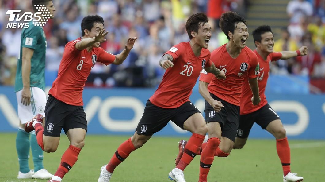 圖/達志影像美聯社(世足賽) 南韓2:0奇蹟逆轉擊敗德國 球迷狂歡