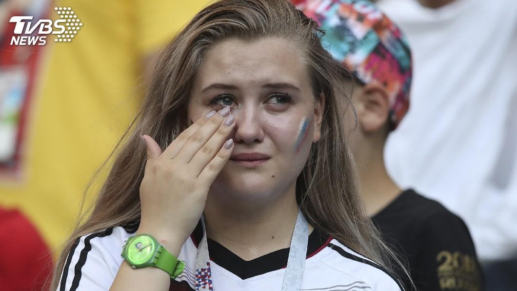 圖/達志影像美聯社(世足賽) 與韓大戰爆冷落敗 德國球迷錯愕哭泣