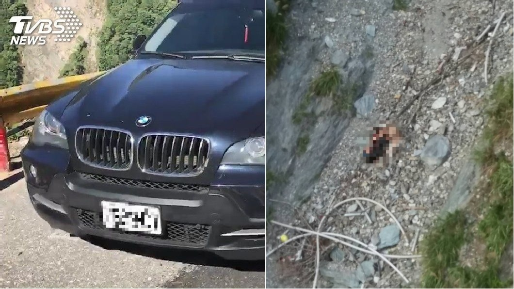 圖/TVBS 巨陞董座夫妻失蹤多日 中橫公路墜崖雙亡